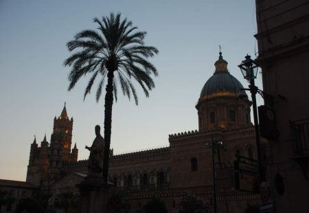 La Cathédrale de Palerme au coucher du soleil