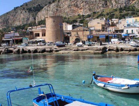 Palerme - Le port de pecheurs de Mondello