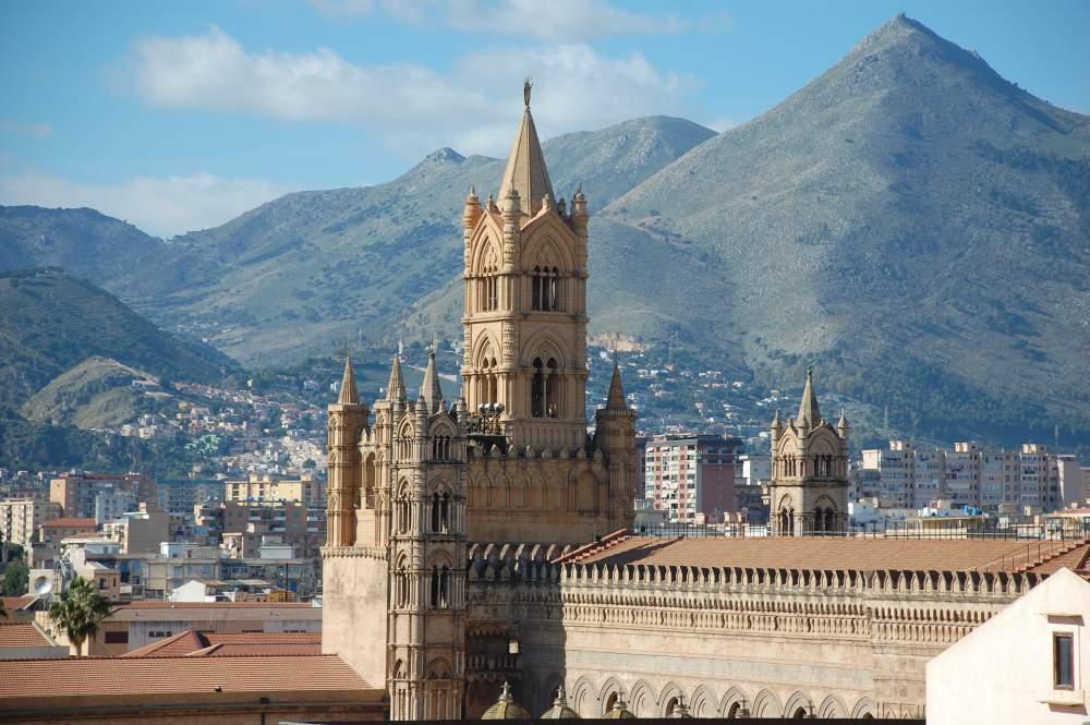 Vue du haut de la Cathédrale de Palerme